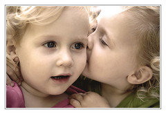 a kiss (joyrex) Tags: family love 1025fav twins toddler kiss top20childportrait explore