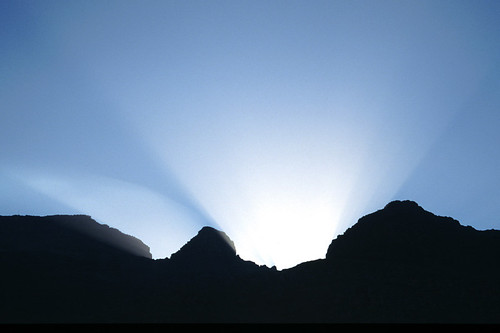 Sunlight over Mountain