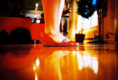 plaster foot (lomokev) Tags: red party orange newyork reflection feet foot lomo lca xpro lomography crossprocessed xprocess shoes dof floor low ground plaster lomolca depthoffield agfa jessops100asaslidefilm agfaprecisa shinny lomograph agfaprecisa100 cruzando precisa ratseyeview jessopsslidefilm blinkofaneyenyc midtownlofts ashmatic ashmaticsfeet rota:type=showall rota:type=portraits file:name=lomo0806g60