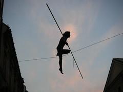 Balancing lady by orangebrompton, on Flickr
