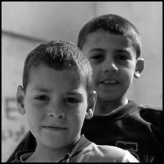 boyz from the casbah (jam-L) Tags: portrait blackandwhite bw boys children algeria faces noiretblanc enfant algiers thecasbah الجزائر blackribbonicon