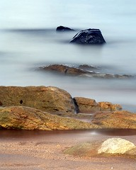 Deeper and darker (Ray Byrne) Tags: uk longexposure sea england beach water canon 350d coast rocks north northumberland shore northeast ndfilter sugarsands raybyrne nd1000 tenstopsofdarkness lowsttead byrneout