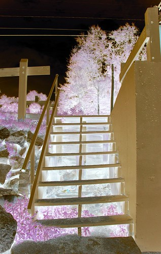 inverted stairs and cross