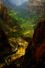 zion fairytale (wildpianist) Tags: park mountain mountains nature colors canon river eos 50mm utah nationalpark hiking 14 canyon hike valley zion viewpoint magical ef primelens christarnawski pacificsouthwest frhwofavs