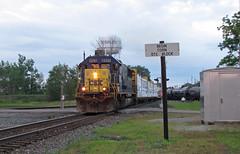 Corn Block (GLC 392) Tags: corncity city csx emd sd50 sd502 8505 early morning sunrise corn block deshler oh ohio yn2 railroad railway train northbound