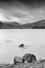 Two Plus One (Delta Skies) Tags: ullswater lake district lakes cumbria water still long exposure monochrome black white