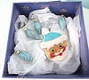 blue silver santa ornaments 2016 (playsculptlive) Tags: pcagoe polymerclay xmasornament