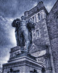 Richard Trevithick Camborne Cornwall 2011 Explored! (hz536n/George Thomas) Tags: 2012 april cs5 camborne cornwall ef24105mmf4lisusm labcolor richardtrevithick spring trevithick canon5d england lab rain statue smörgåsbord explored