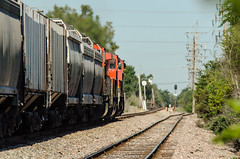 the going away shot (johnfromtheradio) Tags: ic illinois central cn canadian national freeport broadview train locomotive