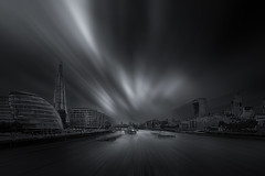 London (radonracer) Tags: uk longexposure england london monochrome surreal digiart thamse themse