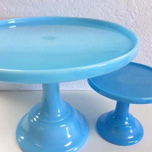 The New Robins Egg Blue Cake Stands Are A Pretty Shade Of Light Blue