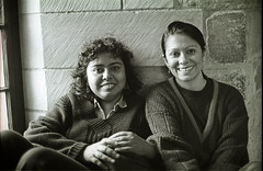 Meghna Guhathakurta (left) and Rahnuma Ahmed in Newcastle F1 roll 44 fm 26 (shahidul001) Tags: politics research feminism academia activism development bangladesh gender journalism ngo newage