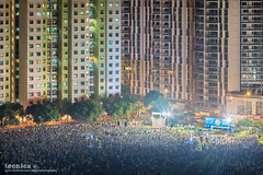 Punggol East Crusade II (t3cnica) Tags: city longexposure urban landscapes singapore rally crowd cityscapes urbanexploration massive punggol wp hdb dri workersparty urbandwelling dynamicrangeincrease exposureblending digitalblending hdbestate punggoleast ge2015 generalelection2015