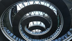 Views from inside City hall London. Open house. (homephoenix) Tags: london architecture spiral cityhall lookingup