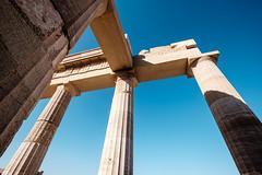 Lindos 2015 - Acropolis II (Richard Reader (luciferscage)) Tags: architecture temple ruins aegean september greece acropolis athena rodos rhodes lindos stoa antiquity 2015 fujixt1 fuijifilmxt1