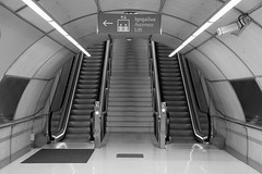 Metro exit (2015) (Kai van Reenen) Tags: architecture stairs underground subway moving spain metro escalator tunnel system bilbao staircase infrastructure exit basque portugalete