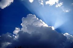 SKY (GEORGE TSIMTSIMIS) Tags: blue sun white nature velvia rays polarizer fujichrome hoya asahipentax 50asa pentaxlx 35mmphoto analoguephoto