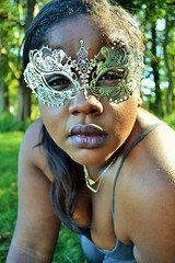 Alley (blinkgirl182x) Tags: flowers woman black halloween up field photography woods dress mask natural acting superhero masquerade tutu whimsical poc maske