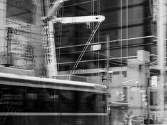 city noise ((robcee)) Tags: people urban toronto ontario canada lines reflections lights chaos crane ttc rail streetcar geolocation 2015 geo:state=ontario geo:country=canada geo:city=toronto camera:make=olympusimagingcorp exif:make=olympusimagingcorp exif:focallength=40mm exif:aperture=45 camera:model=em1 exif:model=em1 exif:lens=olympusm1240mmf28 exif:isospeed=200 geo:lon=79377697222222 geo:lat=43652683333333