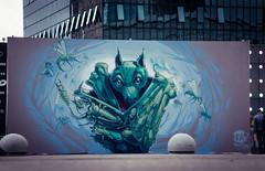"""""""Simbiose"""" (Fat Heat .hu) Tags: wall la bat bugs canvas defense graffitiart cfs simbiose muralism fatheat"""