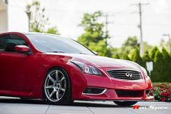 "WORK Emotion T7R on Infiniti G37 • <a style=""font-size:0.8em;"" href=""http://www.flickr.com/photos/64399356@N08/22162813291/"" target=""_blank"">View on Flickr</a>"