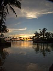 Waikiki Lagoon Sunset (Stephen P. Johnson) Tags: sunset hawaii village waikiki oahu events places lagoon hawaiian honolulu 201511040076