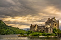 Under a cloud. (AlbOst) Tags: castles clouds eileandonan lochs dornie cloudformations eileandonancastle scottishcastles asperatus asperitas