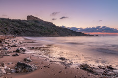 Ghajn Tuffieha Bay, MALTA (glank27) Tags: sunset seascape canon landscape bay is mediterranean sandy malta filter pro polarizer efs circular hoya tuffieha f3556 ghajn 1585mm eos70d
