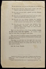 Women and the Vote leaflet,1918.