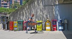 MaldenUpsetGuitar (fotosqrrl) Tags: urban station newspaper guitar massachusetts streetphotography boxes mbta malden maldencenter