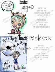 DISPLAY2 (Lizzy Love ♥ Oddball Art Co.) Tags: santa christmas cute eye art love reindeer cards big holidays paintings hats creepy antlers elf fox kawaii greeting bats lizzy 2015 oddballart