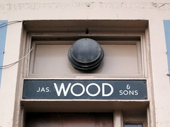 JAS. WOOD & SONS (the Magnificent Octopus) Tags: sign metal shop edinburgh barber sansserif