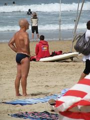Speedos in Biarritz (OssWesley) Tags: gay guy beach muscles tits legs bald bum suntan speedo hairless speedos