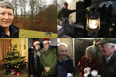 345 2016 a varied day of activities (Margaret Stranks) Tags: 345366 365days 2016 christmas tree lamp paraffin lantern hats friends dog quenington colnstaldwyns colncommunitystores gloucestershire uk mulledwine bbq barbecue decorations angel presents
