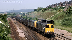 13/06/1989 - Treeton Junction, Sheffield, South Yorkshire. (53A Models) Tags: britishrail class20 20032 20063 diesel freight treetonjunction sheffield southyorkshire train railway locomotive railroad