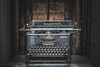 Imperial typewriter (climbing the walls) Tags: typewriter buttons keys imperial carbon ink letter alphabet numbers rope brickwork liftshaft ribbon type nature justoneclick england receptionist typewriterfont leicester hidalgomoya 1960s 1800s oldschool