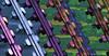 tension a color (ojoadicto) Tags: metal colorsaturation saturated pop repeticion repetition pattern patron manipulaciondefotos photomanipulation