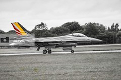 Belgian Air Force F16AM Fighting Falcon (athinaengland) Tags: aviation jetplane aircraft militaryplane militaryjet military fighterjet fightingfalcon f16am belgianairforce riat