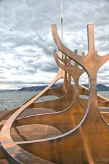 Sun Voyager (johnscratchley) Tags: landscape sculpture viking iceland saebrautpeninsula hdr