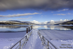 Afternoon At Lake McDonald, Glacier National Park, Montana (rebeccalatsonphotography) Tags: mt montana np nationalpark glacier glaciernationalpark january 2017 winter snow mountains clouds lakemcdonald ice rebeccalatsonphotography outdoor landscape scenery
