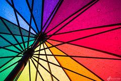 Rain drops on my umbrella (Benedikt Filip) Tags: minimalismus deutschland textur abstrakt wasser mannheim regenbogen ausschnitt regenschirm badenwürttemberg ausen regen farben muster tropfen struktur gegenlicht tag