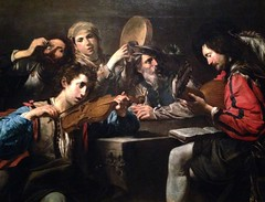 A Musical Party - Valentin de Boulogne, 1624-26 (I like green) Tags: photostream valentindeboulognebeyondcaravaggio metropolitanmuseumofart nyc 2016