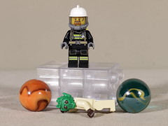 P.U. ! Dead aliens really stink ! (Busted.Knuckles) Tags: home toys lego minifigures fireman alien marbles canonsl1