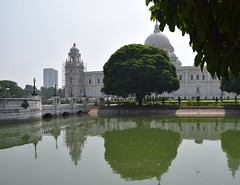 Victoria Memorial 1 (victoriaei) Tags: india calcutta kolkata october outdoors streetscenes victoriamemorial moat trees gardens building reflections travel d5300 indianstreetphotography streetphotography asia nikon