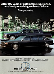 1985 Cadillac Limousines (aldenjewell) Tags: 1985 cadillac limousines formal fwd park hill rwd hess eisenhardt brochure