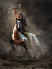 Warrior (deskridge) Tags: warrior nativeamerican indian brave western american tomahawn charge charging horse mustang steed attack attacking bravery battlecry warcry navajo comanche sioux wildwest americanwest tonto geronimo sittingbull danieleskridge eskridge