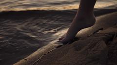 351/366: dainty (Andrea · Alonso) Tags: me selfportrait 366 365 feet foot pie sea ocean wave sand arena beach playa