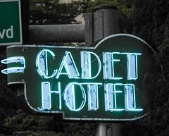 Cadet Hotel Vintage Neon Sign; Miami Beach, Florida (hogophotoNY) Tags: hogophoto miamibeach florida unitedstates us sign neon neonsign floridausa floridaus miami southflorida vintage vintagesign southbeach southbeachflorida signs hotelsign hotels