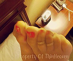 thumbnail_IMG_6758 (thinheaven) Tags: toering pantyhose nylon sheer women toes polished painted footjob pedicure nude suntan
