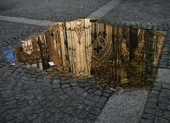 Collogne. (julien ( l'ours )) Tags: collogne koln cathédrale dom parvis reflets reflect parvement pavé flaque panosonic lumix dmc fz50 germany deutchland allemangne